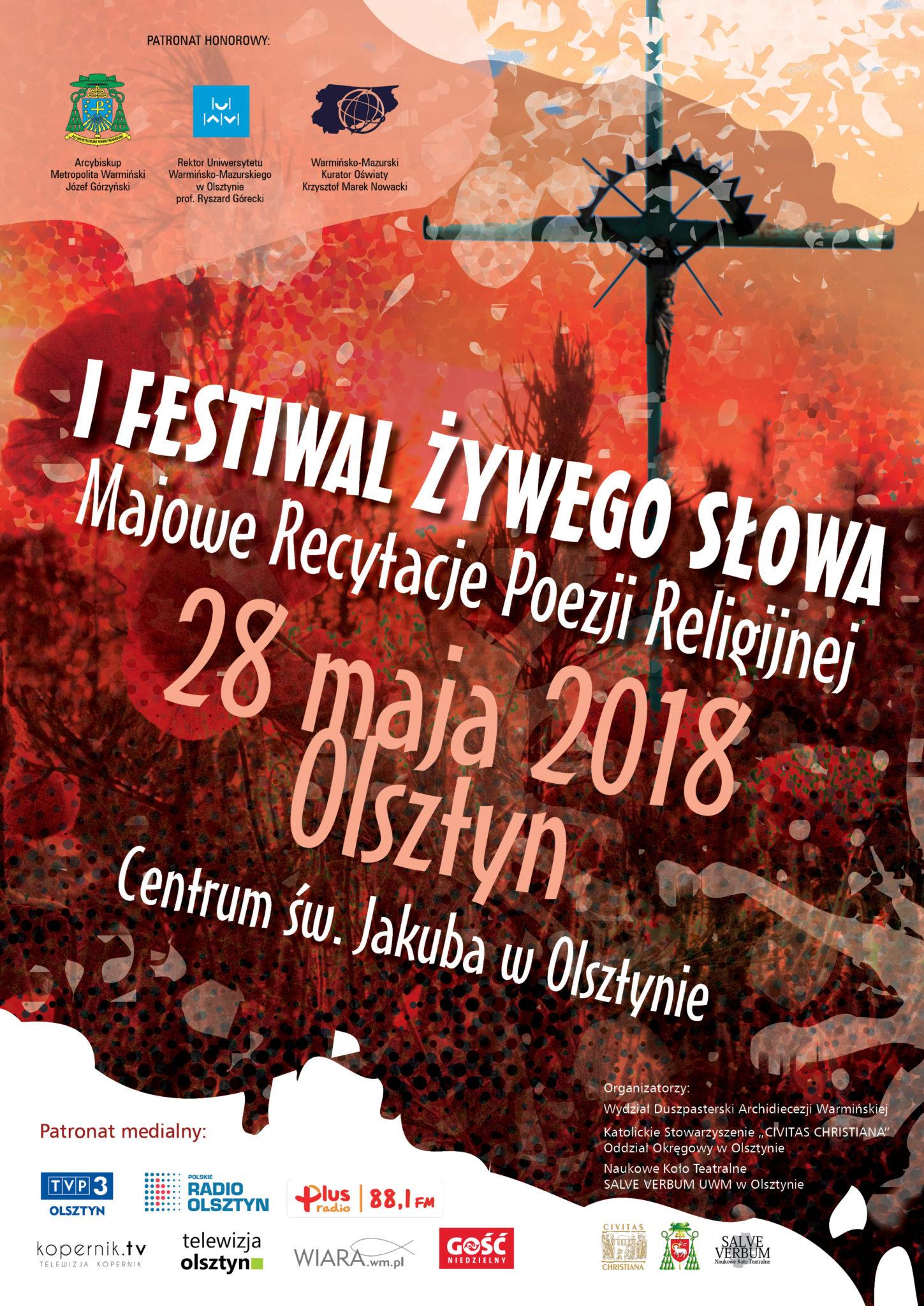I Festiwal żywego Słowa Majowe Recytacje Poezji Religijnej